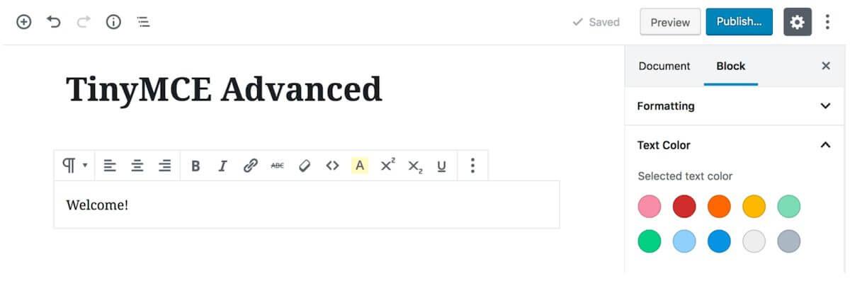 TinyMCE Advancedのプラグイン紹介